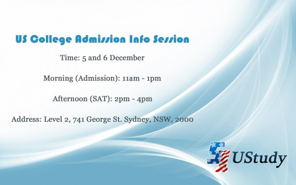 US College Admission Information Session in Sydney
