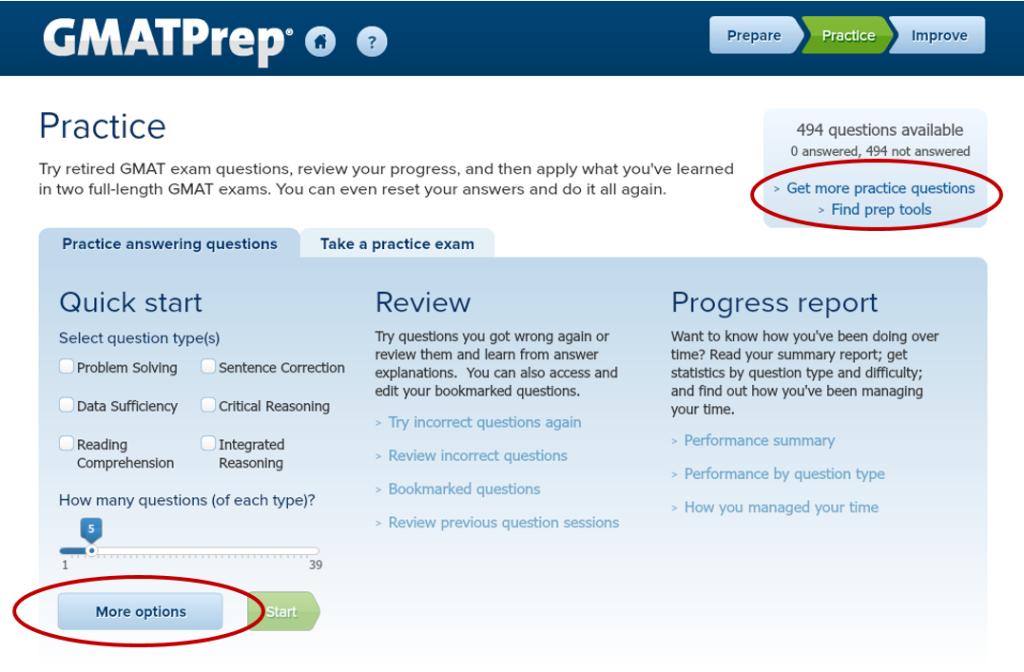 复习GMAT-用官方Prep软件进行压力练习-准备