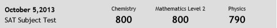 SAT高分 - 数学化学满分 化学790