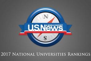 US News 2017 National Universities Rankings – 2017全美大学本科排名